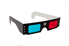 3d anaglyph glasses isolated on white background Royalty Free Stock Photography
