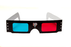 3d anaglyph glasses isolated on white background Stock Photos