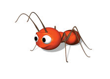 3D ant. A 3D cartoon style ant illustration Stock Photography