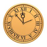 3d antique old clock Stock Image