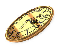 3d antique old clock Royalty Free Stock Photography