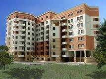 3d apartment building Stock Images