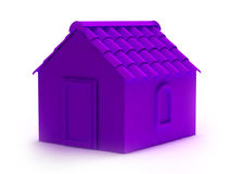 3d apartment house. 3d house illustration isolated on white Royalty Free Stock Photo
