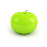 3d apple. Over white background Royalty Free Stock Image