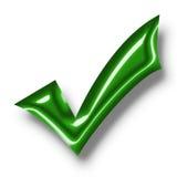 3d approvano il contrassegno Immagini Stock Libere da Diritti