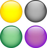 3d aqua button. For design Royalty Free Stock Image