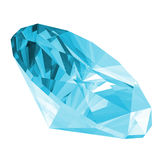 3d Aquamarine Gem Isolated Royalty Free Stock Photos