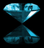 3d Aquamarine Gem Isolated Royalty Free Stock Photography