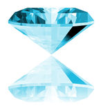 3d Aquamarine Gem Isolated Stock Photography