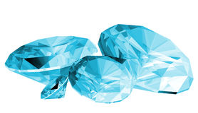 3d Aquamarine Gem Isolated. A 3d illustration of a aquamarine gem isolated on a white background Stock Image