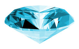 3d Aquamarine Gem Isolated. A 3d illustration of a aquamarine gem isolated on a white background Stock Images