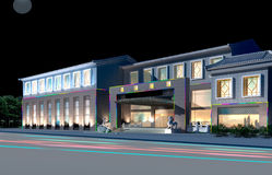 3d architectural. 3d construction  - modern city, modern architecture and designing Royalty Free Stock Photo