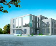 3d architectural. 3d construction of office building. Concept - modern city, modern architecture and designing Stock Image