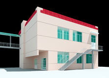3d architectural. 3d construction of office building. Concept - modern city, modern architecture and designing Royalty Free Stock Photography