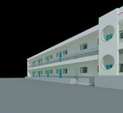 3d architectural. 3d construction of office building. Concept - modern city, modern architecture and designing Royalty Free Stock Photos