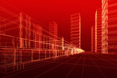 3D architecture abstract Royalty Free Stock Image