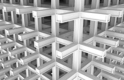 3d architecture monochrome abstract background Stock Image