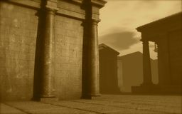 3d architecture roman monument render Royalty Free Stock Image
