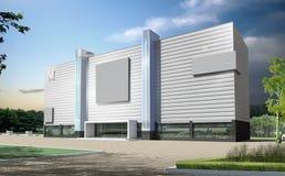 3d architettonico Fotografia Stock Libera da Diritti