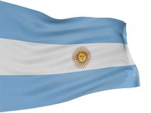 3D Argentina flag Royalty Free Stock Photo