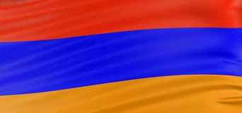 3D Armenian flag Stock Image