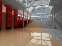3D arquitectónicos - Alambre de la construcción Imagenes de archivo