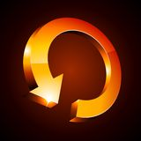 3d arrow. Orange luminous arrow. Vector illustration Royalty Free Stock Photography
