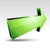 3d arrow. Illustration of 3D green arrow Royalty Free Stock Image