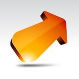 3d arrow. Illustration of 3D orange arrows Stock Image