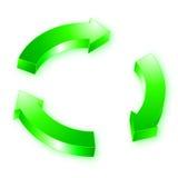 3d arrow. Vector illustration of green 3d arrow Stock Image