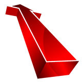 3d arrow. On white background Royalty Free Stock Image