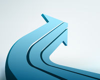 3d arrow. Vector illustration of 3d arrow Royalty Free Stock Photography