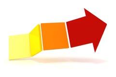 3d arrow. On white background Stock Photo