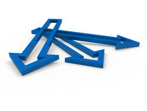 3d arrow blue Royalty Free Stock Photography