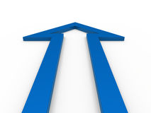 3d arrow blue up. Growth success business Royalty Free Stock Photography