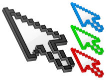 3D arrow computer cursor Royalty Free Stock Image