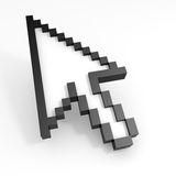 3D arrow cursor. Computer generated image Royalty Free Stock Photos