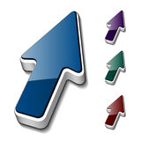 3d arrow cursors Stock Photography