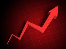 3d arrow graph Stock Images
