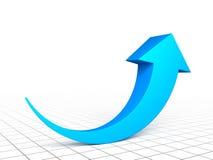 3d arrow graph. 3d blue arrow graph growth up Stock Photo
