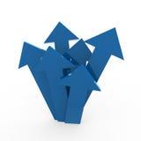 3d arrow high blue Stock Images