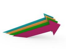 3d arrow high colorful success Stock Photo