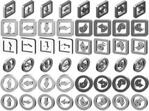 3D Arrow Icons Collection Royalty Free Stock Photos