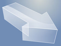 3d Arrow illustration. Illustration of a 3d translucent arrow pointing right Royalty Free Stock Images