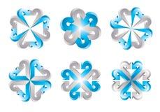 3d arrow logo templates Stock Images