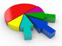 3d arrow pie chart Royalty Free Stock Photography