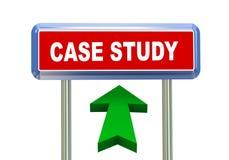 3d arrow road sign - case study Stock Photos