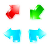 3d arrow set Royalty Free Stock Image