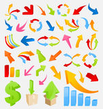 3D arrow4. Set of icons 3D the marksman. A vector illustration Stock Images