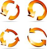 3d arrows. Royalty Free Stock Photos